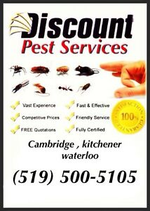 DISCOUNT PEST CONTROL (Licensed, Guaranteed & Affordable)   Cambridge Kitchener Area image 1