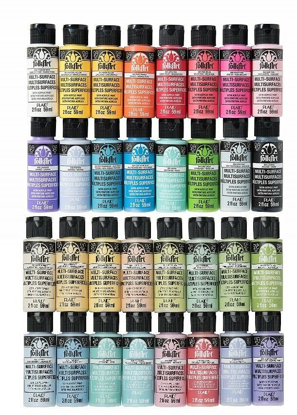 Folkart Multi-Surface Acrylic Paint 2 oz Bottles Over 60 Col