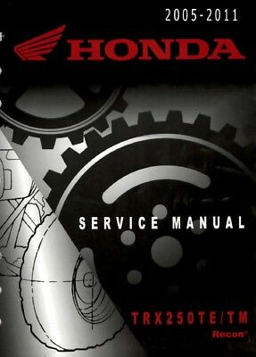 2005 - 2011 Honda TRX250 Recon ATV Quad Service Repair Manual