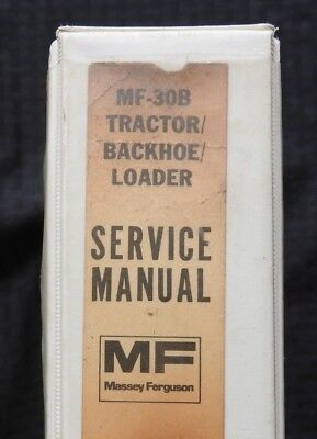 Massey Ferguson Mf 30 30b Tractor Loader Backhoe Service Repair Manual Good One