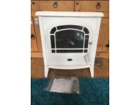 New Dimplex Electric Log Effect Fire In White