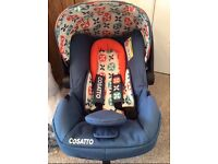 Cosatto Toodle Pip Hold 0+ Car seat with adapters