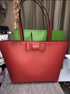 BNWT Authentic Kate Spade Red Tote
