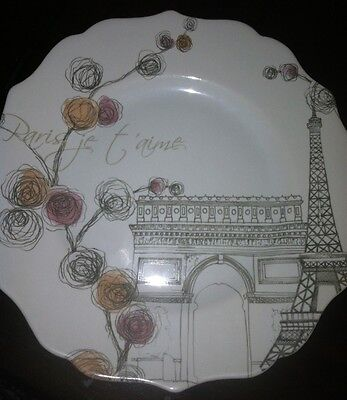 "New 222 Fifth Lissome Plate ""PARIS JE T'AIME"" on Rummage"