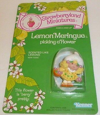Vtg 1982 Strawberry Shortcake Lemon Meringue Picking a Flower Figure Kenner Mini - Spongebob Lemon
