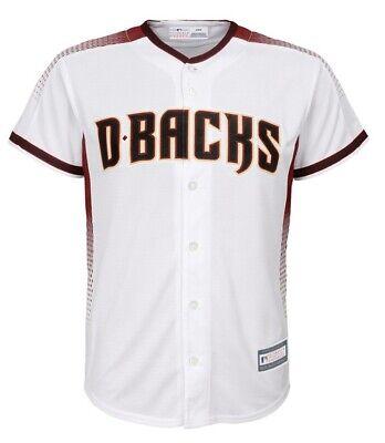 New NWT Arizona Diamondbacks White Jersey Youth Boys Size S Small 8