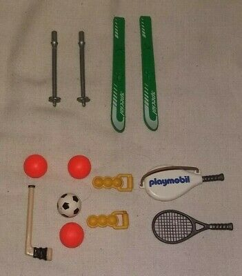 Geobra Playmobil Mundobil mixed items sports equipment Tennis Skiing Football