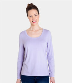 Woolovers jersey long sleeve scoop neck tee Size M Brand New