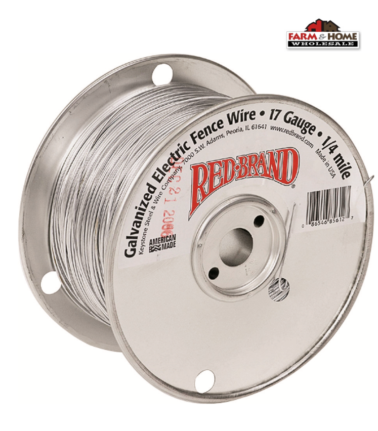 Red Brand 17 Gauge 1/4 Mile Galvanized Electric Fence Wire ~