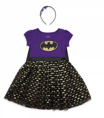 Batgirl Tutu Dress (DC Comics Batgirl Toddler Girls Tutu Dress W/Detachable Cape & Headband SZ)