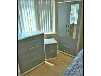 💯💯MASSIVE SAVINGS ASSEMBLED WARDROBE, MATCHING CHEST OF DRAWERS, BEDSIDE TABLES AVAILABLE ALSO.