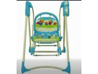 Battery operated swing