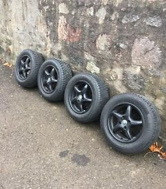 """Alloy wheels 14"""" and tyres 195 60 R14 almost brand new"""