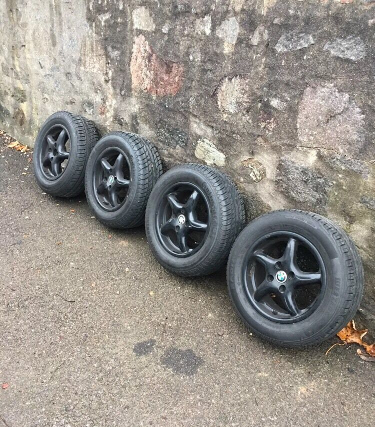 alloy wheels 14 and tyres 195 60 r14 almost brand new. Black Bedroom Furniture Sets. Home Design Ideas