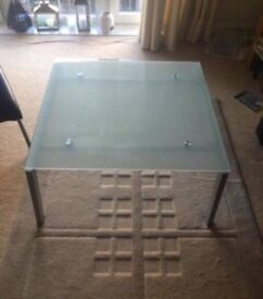 Large Glass Coffee Table Good Condition Can Deliver Locally for £5