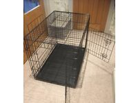 Dog crate cage bed