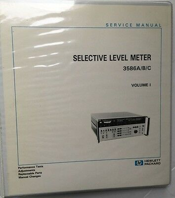 Hp 3586abc Selective Level Meter Service Manual Volume 1 Pn 03586-90002
