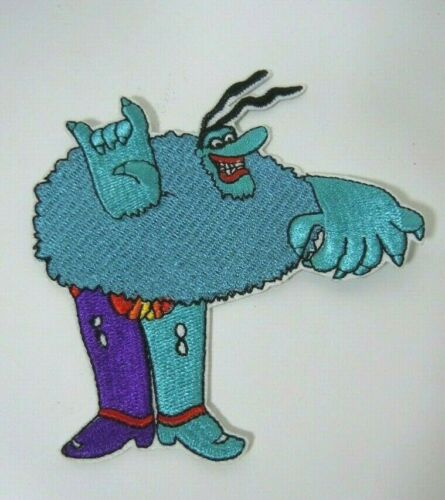 BLUE MEANIE from Yellow Submarine- The Beatles Embroidered Iron-On Patch 4""
