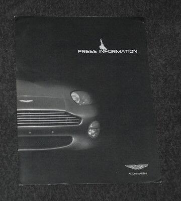 Pressemappe Press Media Kit Aston Martin DB7 Vantage  Motor Show Detroit 2000