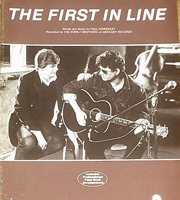 """THE EVERLY BROTHERS """"THE FIRST IN LINE"""" PIANO/VOCAL/GUITAR SHEET MUSIC 1984 RARE"""
