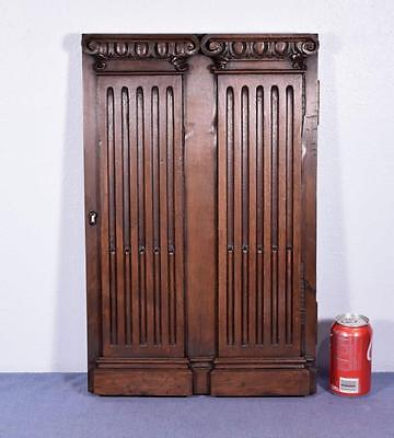 *French Antique Panel/Door with Greek Ionic Columns in Walnut Wood Salvage 2