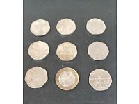 Rare Coin Collection of 50p and single £2 Mary Rose