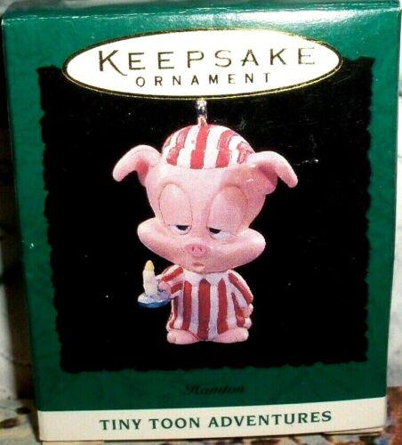 Hampton`1994`Miniature-The Pig-Warner Bros,Tiny Toons,Hallmark Ornament-:>SALE
