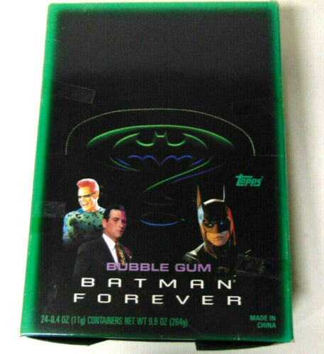 Batman Forever Bubble Gum Figural Containers Mint in Box 1995 Topps DC Comics