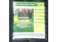 New Camping 3 tier folding cooking stand with bag. Never used