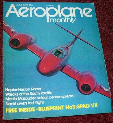 Aeroplane Monthly Magazine 1976 June Napier Heston Racer