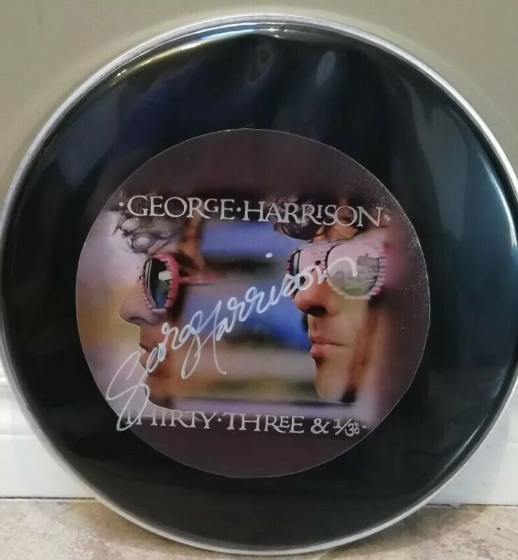 George Harrison Authentic Hand Signed Drumhead - Autograph