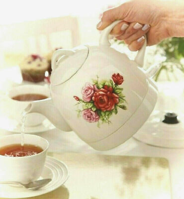 CERAMIC KETTLE CORDLESS ELECTRIC VINTAGE COUNTRY ROSE FLORAL DESIGN 0.8L **NEW**