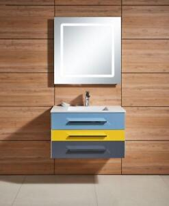 Colourful Floating Vanity 31 in Now 25% OFF