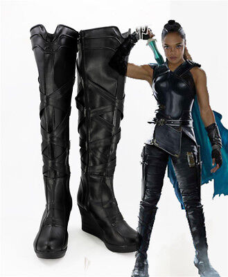 Valkyrie Cosplay Costume Kostüme Schuhe Shoes Stiefel boot Thor III (Thor Kostüm Stiefel)