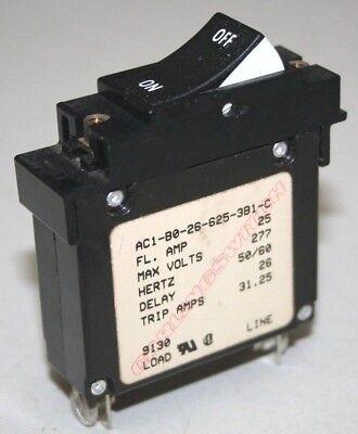 Carling AC1 Series Circuit Breaker 25 Amp - AC1-B0-26-625-3B1-C
