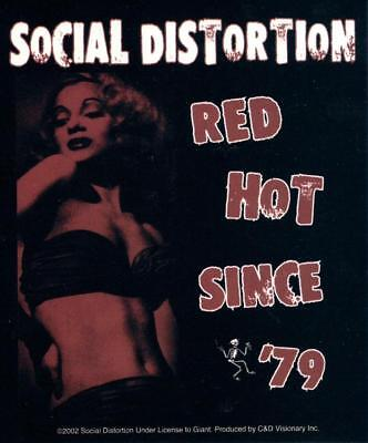 Social Distortion Sticker Red Hot Since 79 Decal Punk Rock New