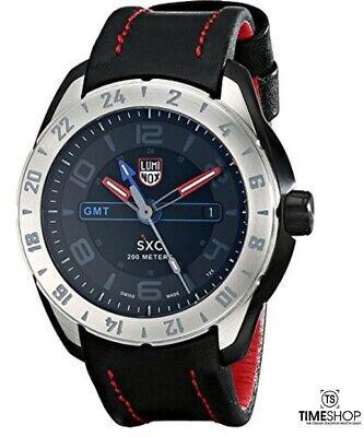 Luminox Xcor Aerospace Black Dial SS Leather Quartz Mens Watch 5127