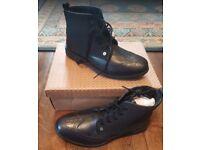 Men's Black Leather Boots by Penguin - Size UK 10 - Brand New In Box