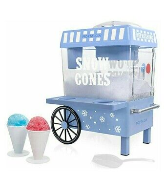 Commercial Snow Cone Machine Maker Shaved Electric Ice Shaver Decorative Style