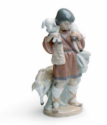 Lladro Shepherd Niño Natividad Figura #5485 Marca Punta Días de Fiesta Navidad