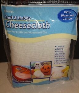 Cheesecloth 2 square yards 100% Bleached Cotton Canning Straining Cheese Making