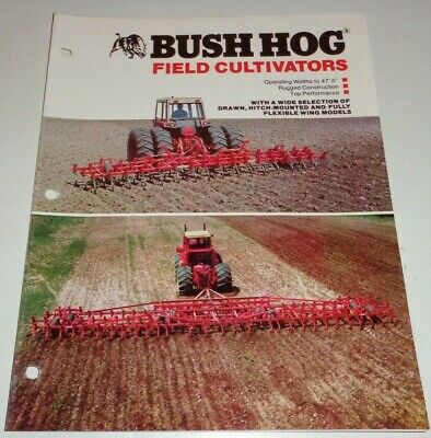 Bush Hog 3-point Trail Flex Field Cultivator Sales Brochure Literature Bh-8