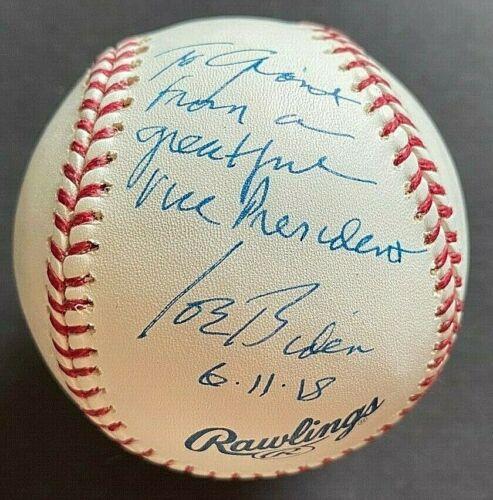 Vice President Joe Biden signed autograph MLB Baseball President Barack Obama