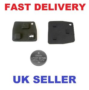 toyota avensis corolla 2 3 rubber button pad for remote. Black Bedroom Furniture Sets. Home Design Ideas