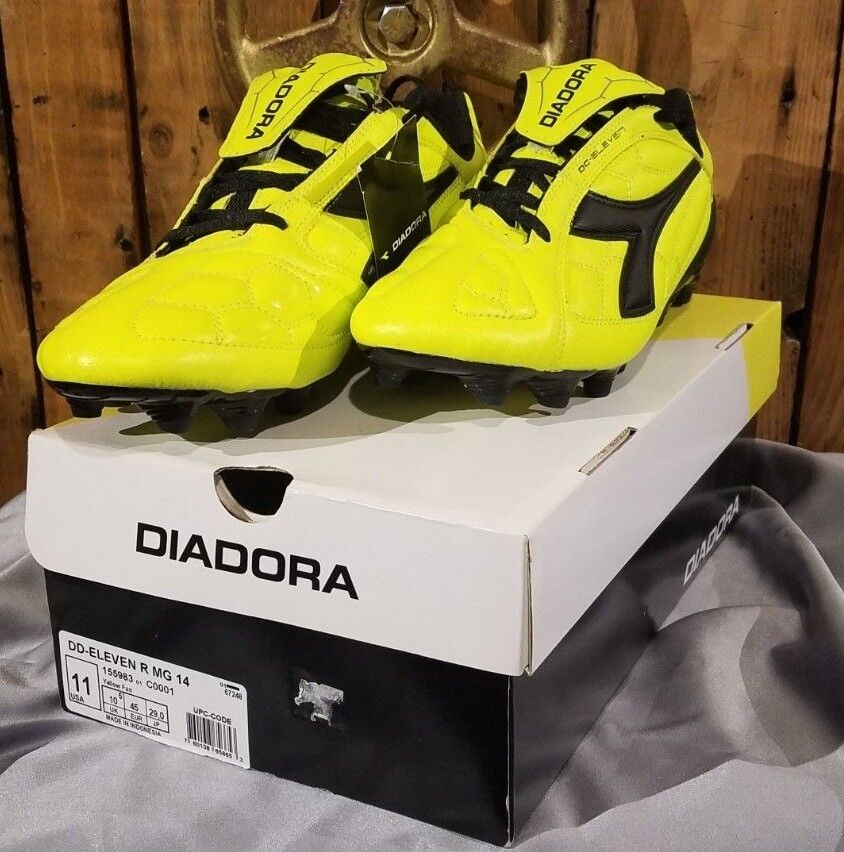Diadora Men's Eleven Lace Up Sneakers,Yellow,11 M