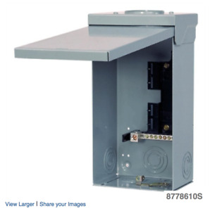 Siemens 4/8 Circuit 125A 240V Outdoor Loadcentre with Breaker
