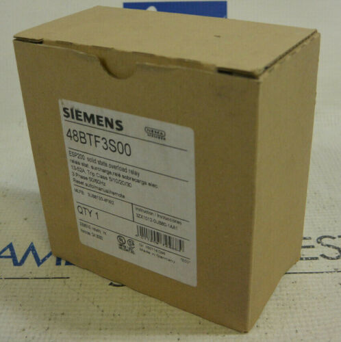Siemens 48BTF3S00 Overload Relay 13-52A 3 Phase *NEW