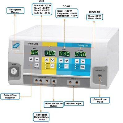 Hyfrecator Electrosurgical Diathermy 300 Watts Digital Surgical Generator 5