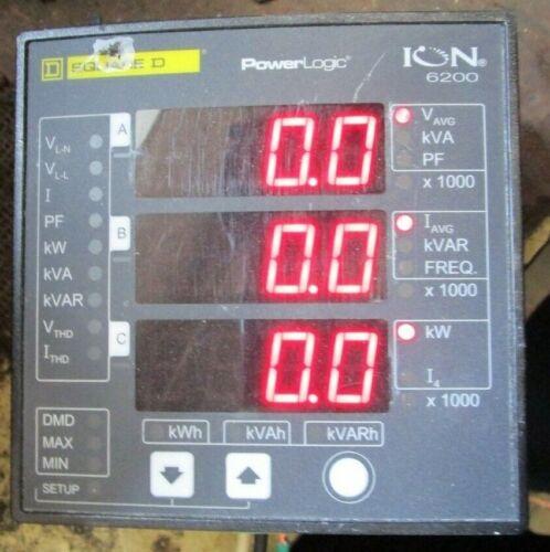 Square D PowerLogic ION 6200S6203A0A00 10A 400V L-N Input 690V L-L Meter Display