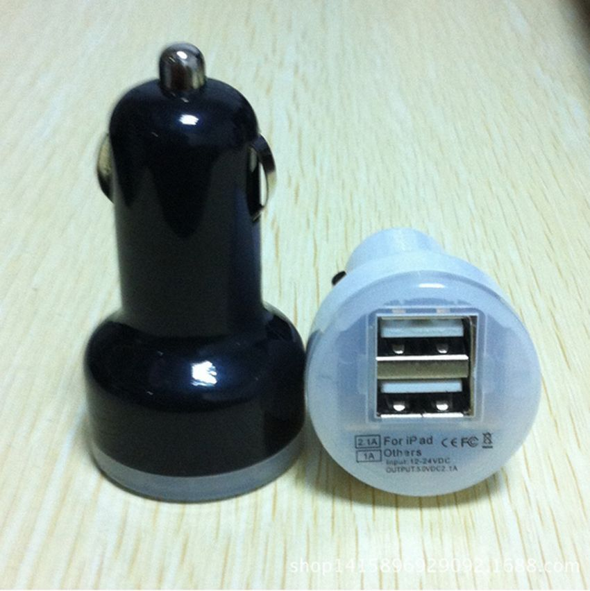 Dual USB 2-Port Mini Car Charger Adapter Bullet For Samsung iPhone Huawei US